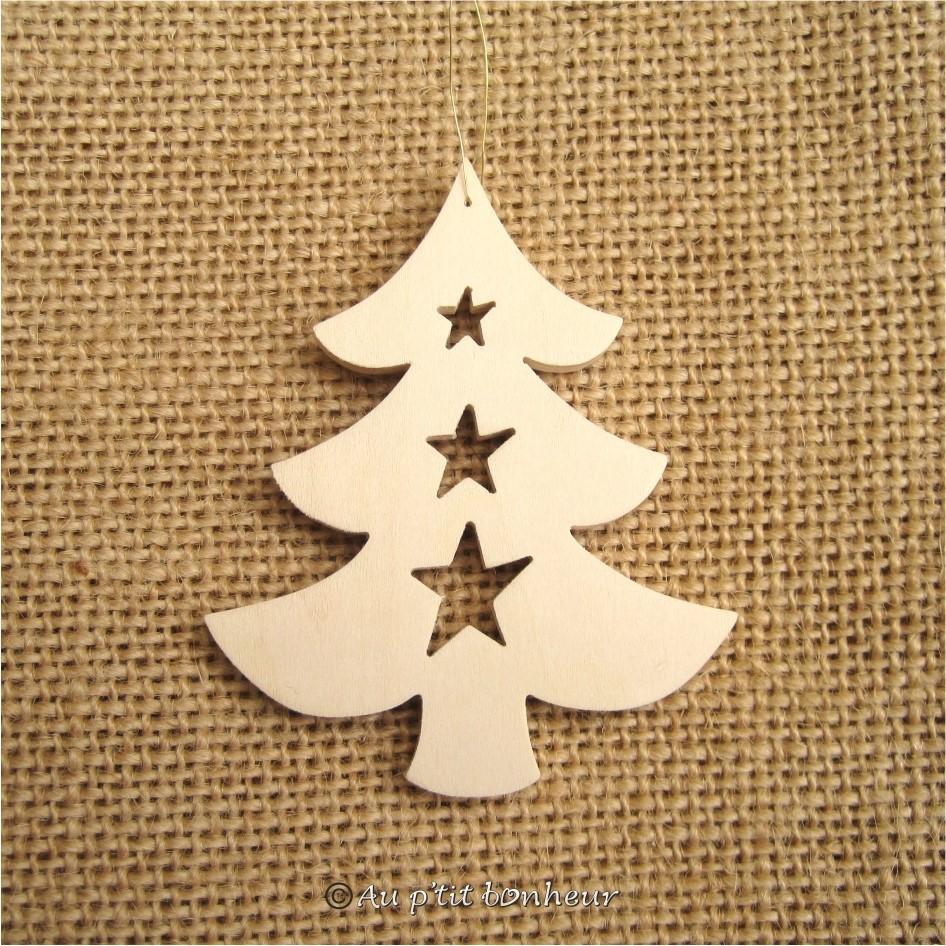 Décoration de Noël bois : sapin ref. SU113