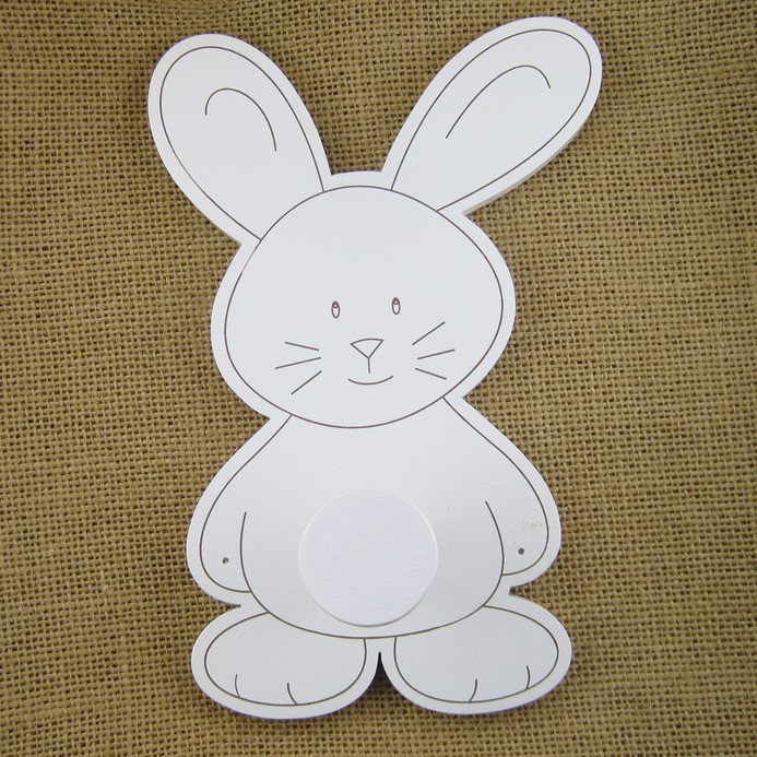 Porte manteau lapin blanc en bois for Decoration porte lapin