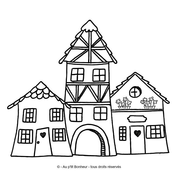 Tampon bois maisons alsaciennes - Tampon cuisine personnalise ...